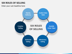 Six roles of selling PPT slide 2