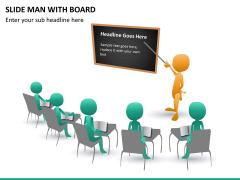 Slide man with board PPT slide 7