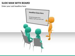 Slide man with board PPT slide 8