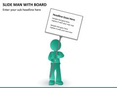 Slide man with board PPT slide 9