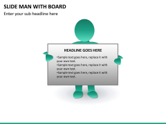 Slide man with board PPT slide 10
