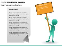 Slide man with board PPT slide 11