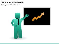 Slide man with board PPT slide 12