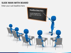 Slide man with board PPT slide 1