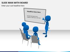 Slide man with board PPT slide 2