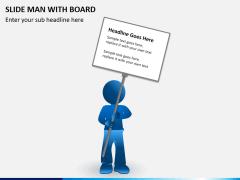 Slide man with board PPT slide 3