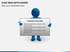 Slide man with board PPT slide 4