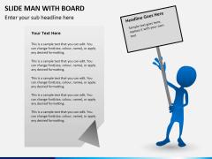 Slide man with board PPT slide 5