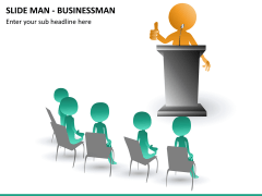 Slide man business PPT slide 12