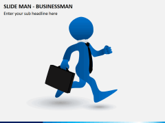 Slide man business PPT slide 1