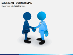 Slide man business PPT slide 2