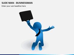 Slide man business PPT slide 3