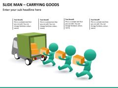 Slide man carrying goods PPT slide 1