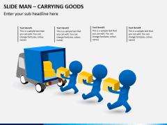 Slide Man (3D Man) Carrying Goods