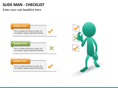 Slide man checklist PPT slide 9