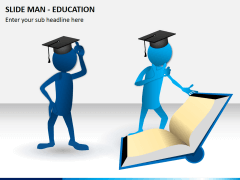 Slide man education PPT slide 1