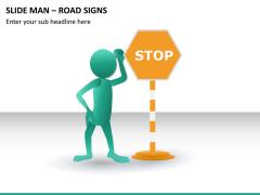 Slide man road signs PPT slide 6