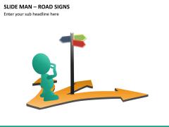 Slide man road signs PPT slide 8