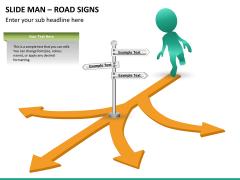 Slide man road signs PPT slide 9