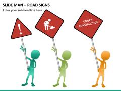 Slide man road signs PPT slide 10
