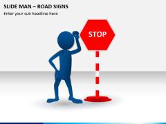 Slide man road signs PPT slide 1