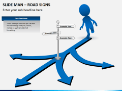 Slide man road signs PPT slide 4