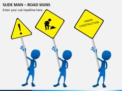 Slide man road signs PPT slide 5