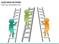 Slide man on stairs PPT slide 1