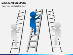 Slide Man (3D Man) on Stairs