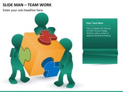 Slide man teamwork PPT slide 4