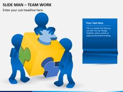 Slide man teamwork PPT slide 1