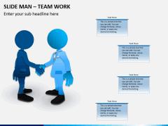 Slide man teamwork PPT slide 2