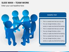 Slide man teamwork PPT slide 3