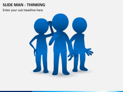 Slide man thinking PPT slide 2