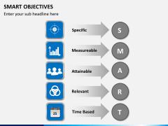 Smart objectives PPT slide 1