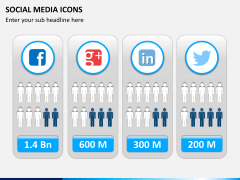 Social media icons PPT slide 10