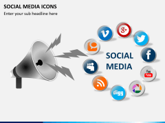 Social media icons PPT slide 11