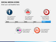 Social media icons PPT slide 13