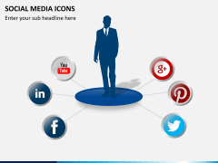 Social media icons PPT slide 14