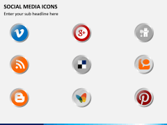 Social media icons PPT slide 2