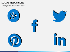 Social media icons PPT slide 4
