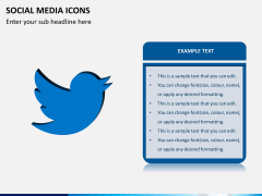 Social media icons PPT slide 5