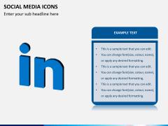 Social media icons PPT slide 7