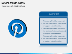 Social media icons PPT slide 8
