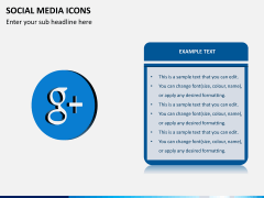 Social media icons PPT slide 9