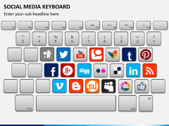 Social media keyboard PPT slide 2