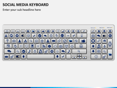 Social media keyboard PPT slide 3
