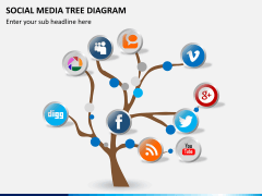 Social media tree PPT slide 4