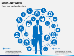 Social network PPT slide 1