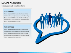 Social network PPT slide 4